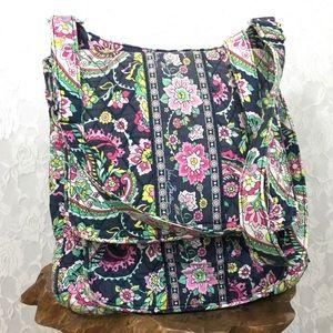 Vera Bradley mailbag cross body purse paisley